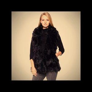 Adrienne Landau faux fur vest.